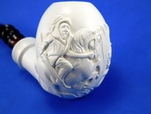 SMS Meerschaums - Hunter & Lion by S. Yanik